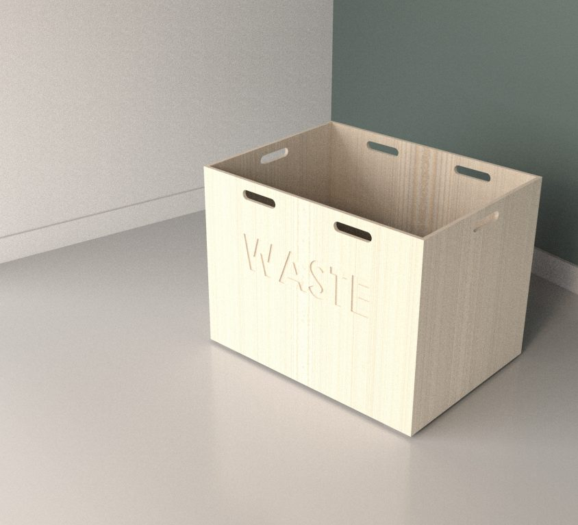 Wood waste boxes